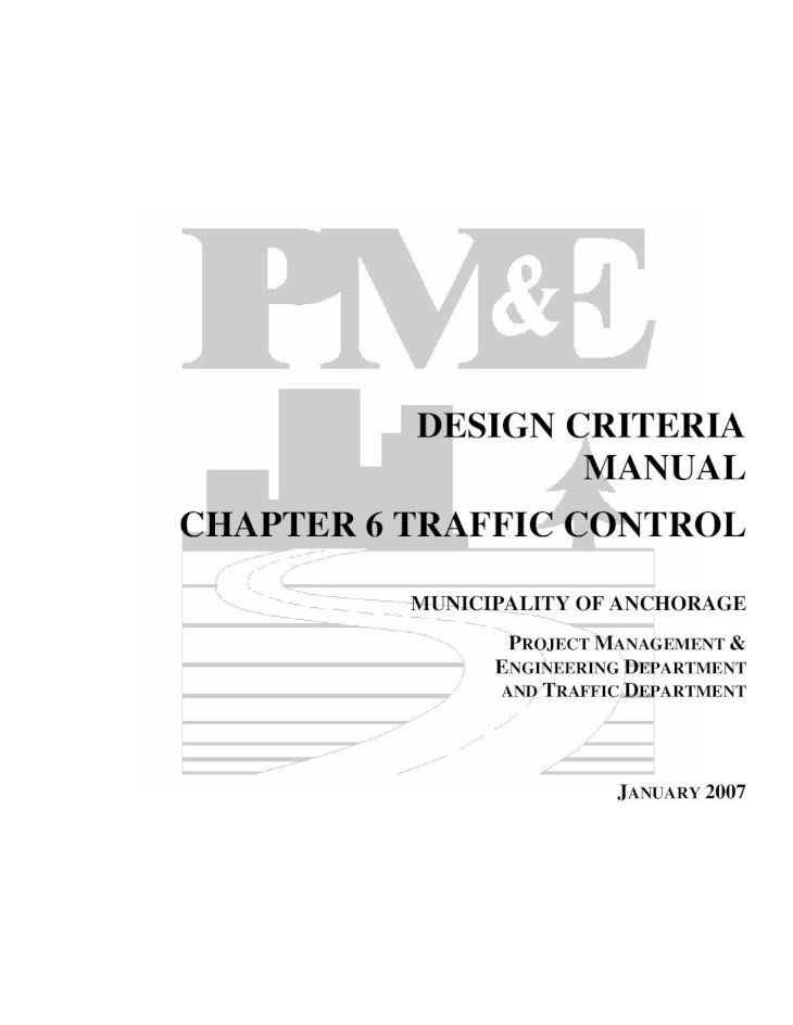 DESIGN CRITERIA MANUAL CHAPTER 6 TRAFFIC Criteria...DESIGN ...